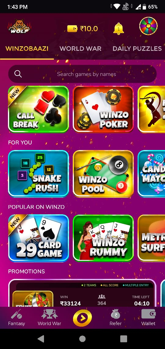 winzo apk for android
